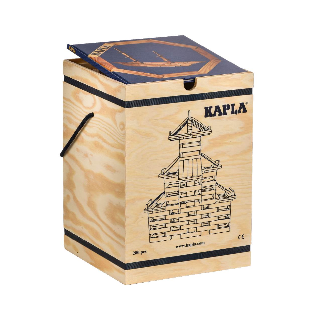 FAP-K-280-B-KAPLA280 積木盒-#2 藍 (280PCS)