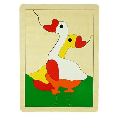 H007-雙鵝拼圖