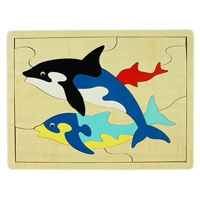 H030-海豚拼圖
