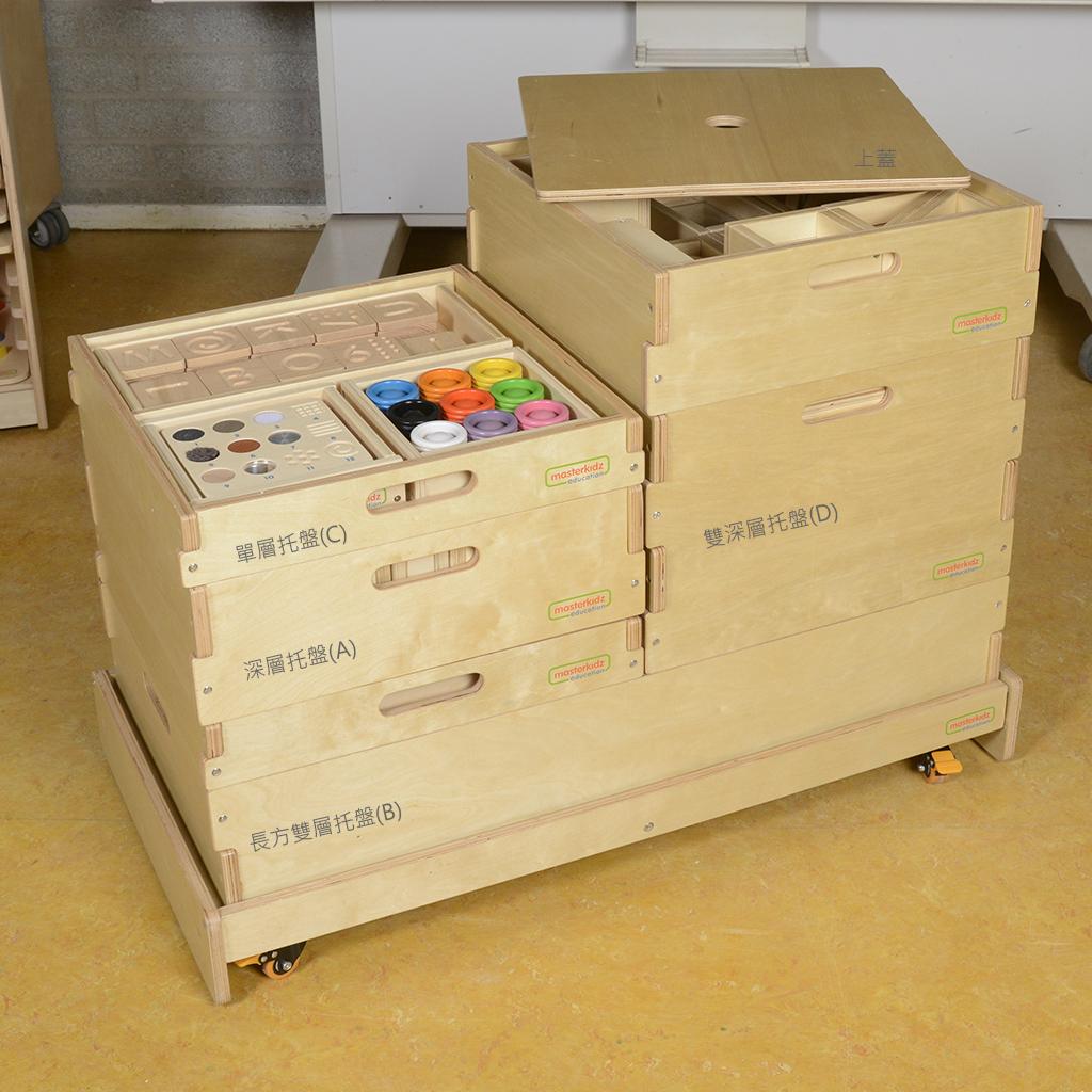 ME03591-教具儲物系列-長方雙層托盤(B)