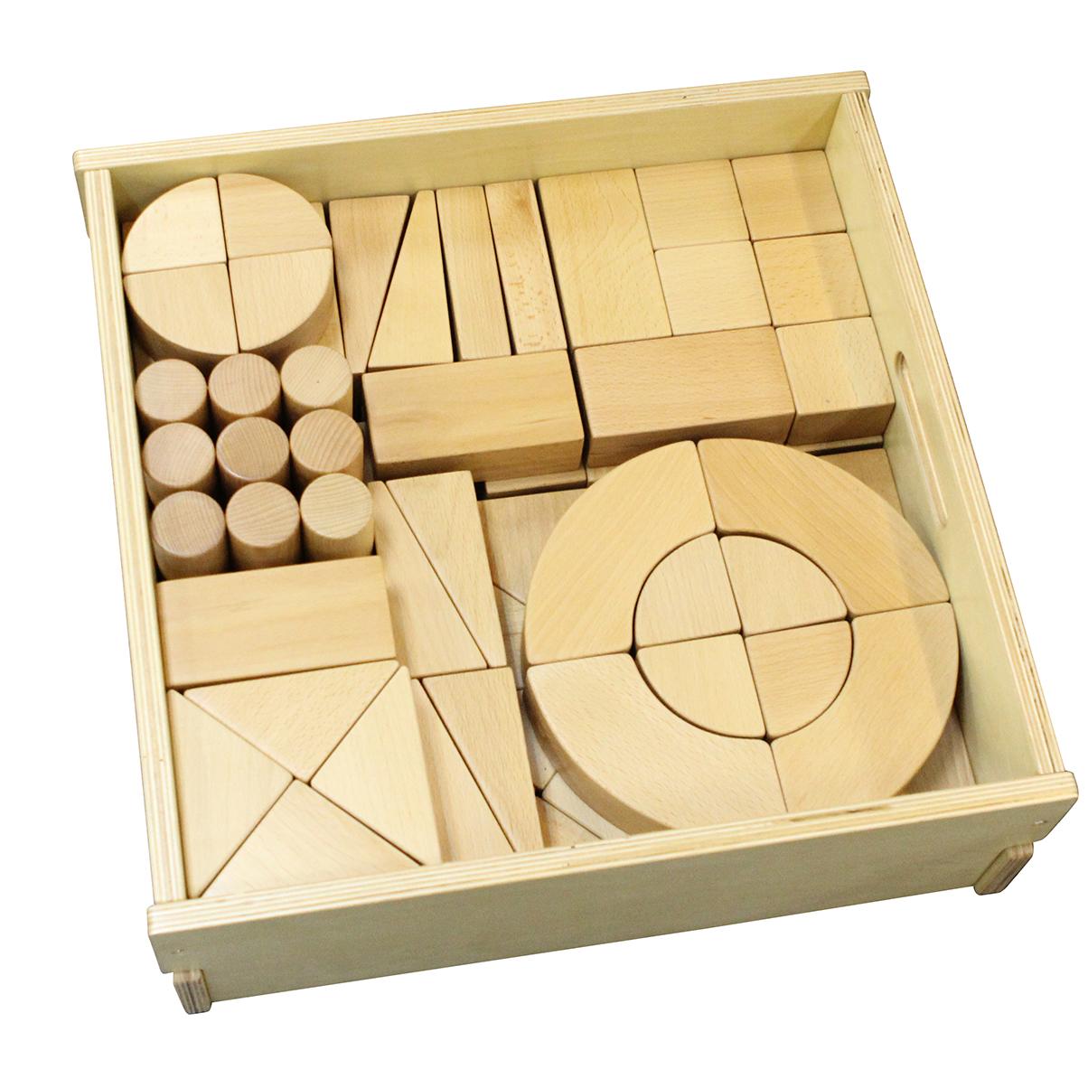 ME03652-A-巨型實木積木92件套裝(含收納箱)