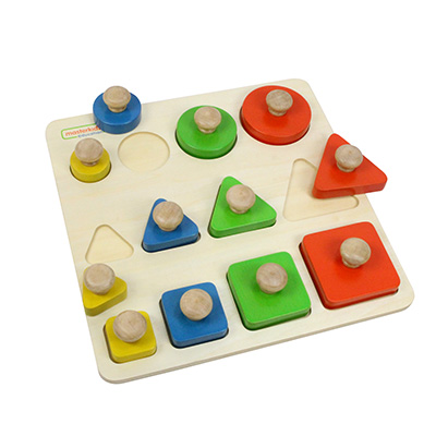 ME03744-形狀大小顏色學習板