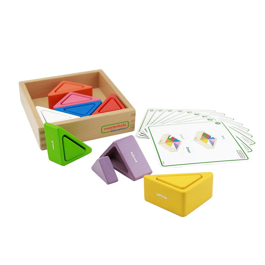 ME04222-三角形顏色配對遊戲盒