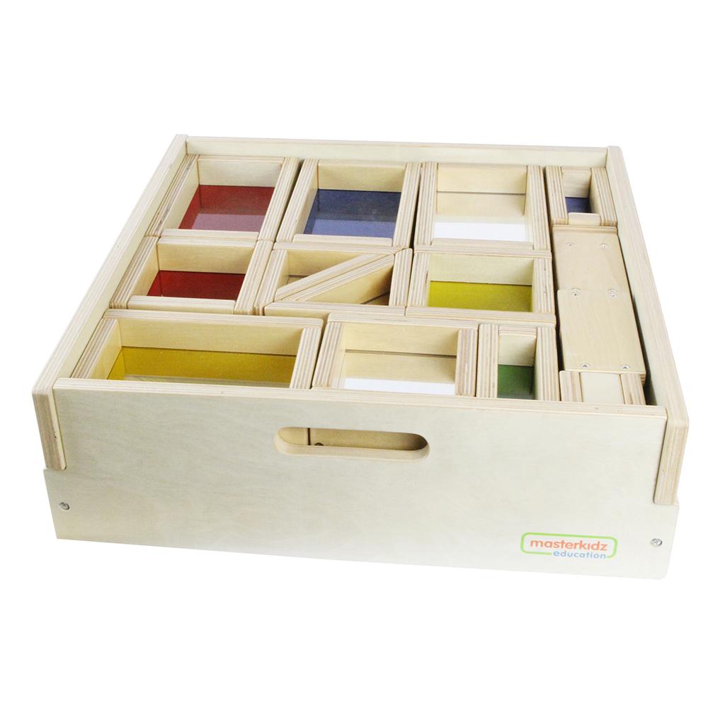 ME06783-A-巨型彩色透視及鏡面積木29件套裝(含收納箱)