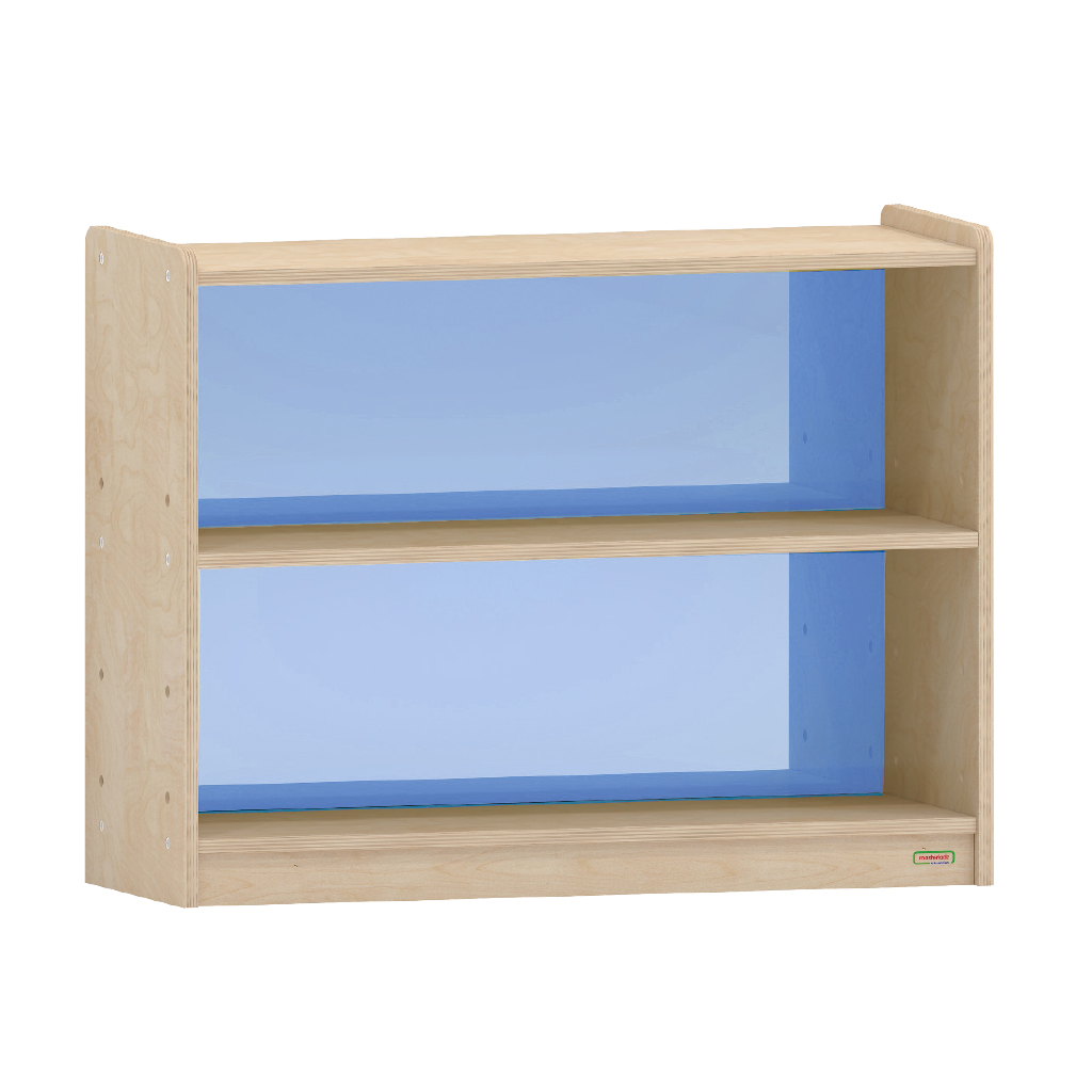 ME08107-620H x 800L 彩色透視耐刮背板雙層櫃-藍色