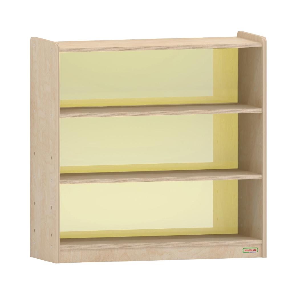 ME08350-800H x 800L 彩色透視耐刮背板三層櫃-黃色
