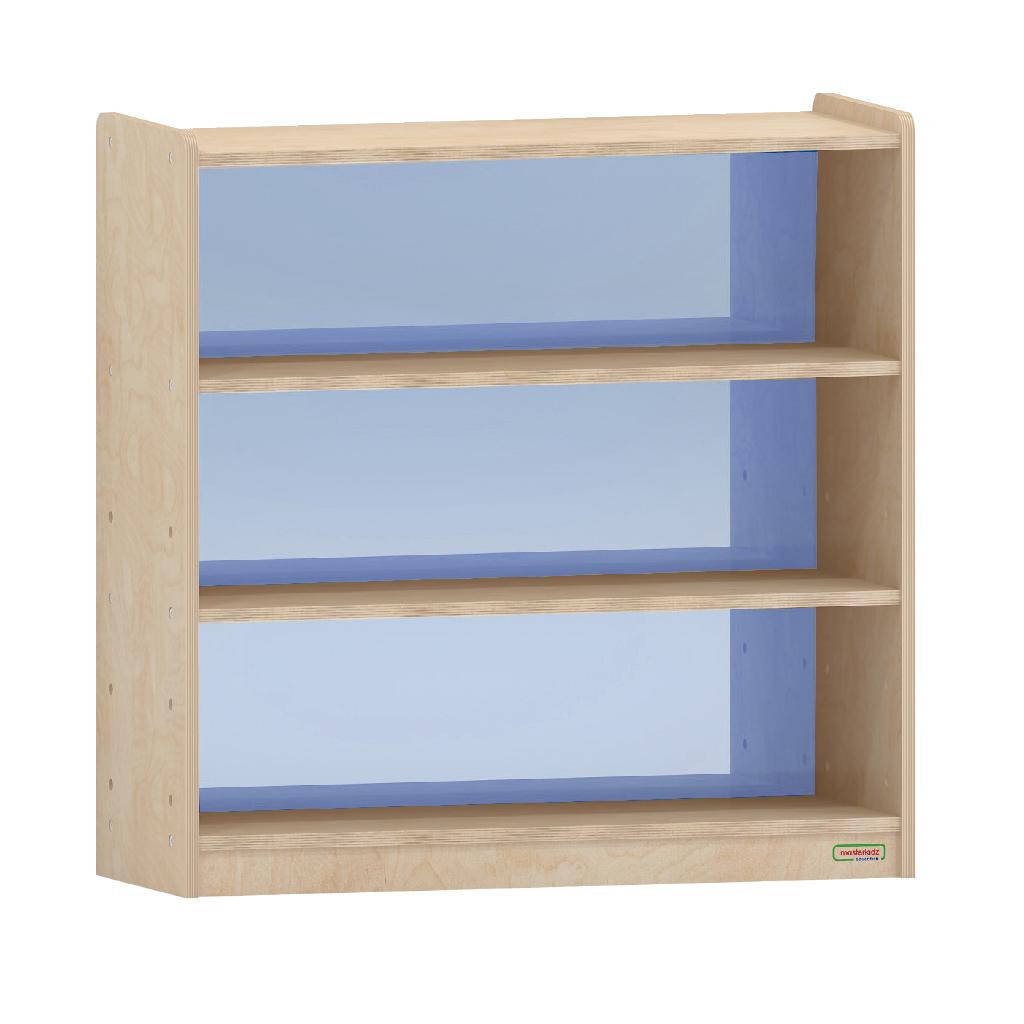 ME08367-800H x 800L 彩色透視耐刮背板三層櫃-藍色