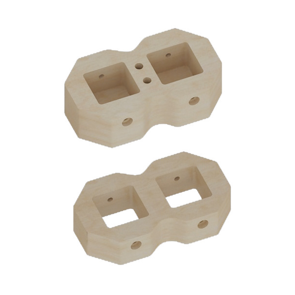 ME08398-90°/180°雙孔連接器 - 等高