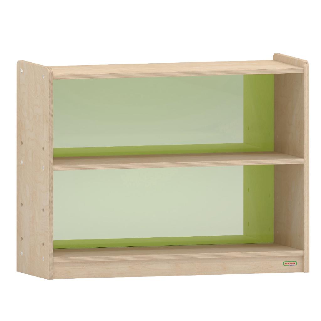 ME08756-620H x 800L 彩色透視耐刮背板雙層櫃-綠色