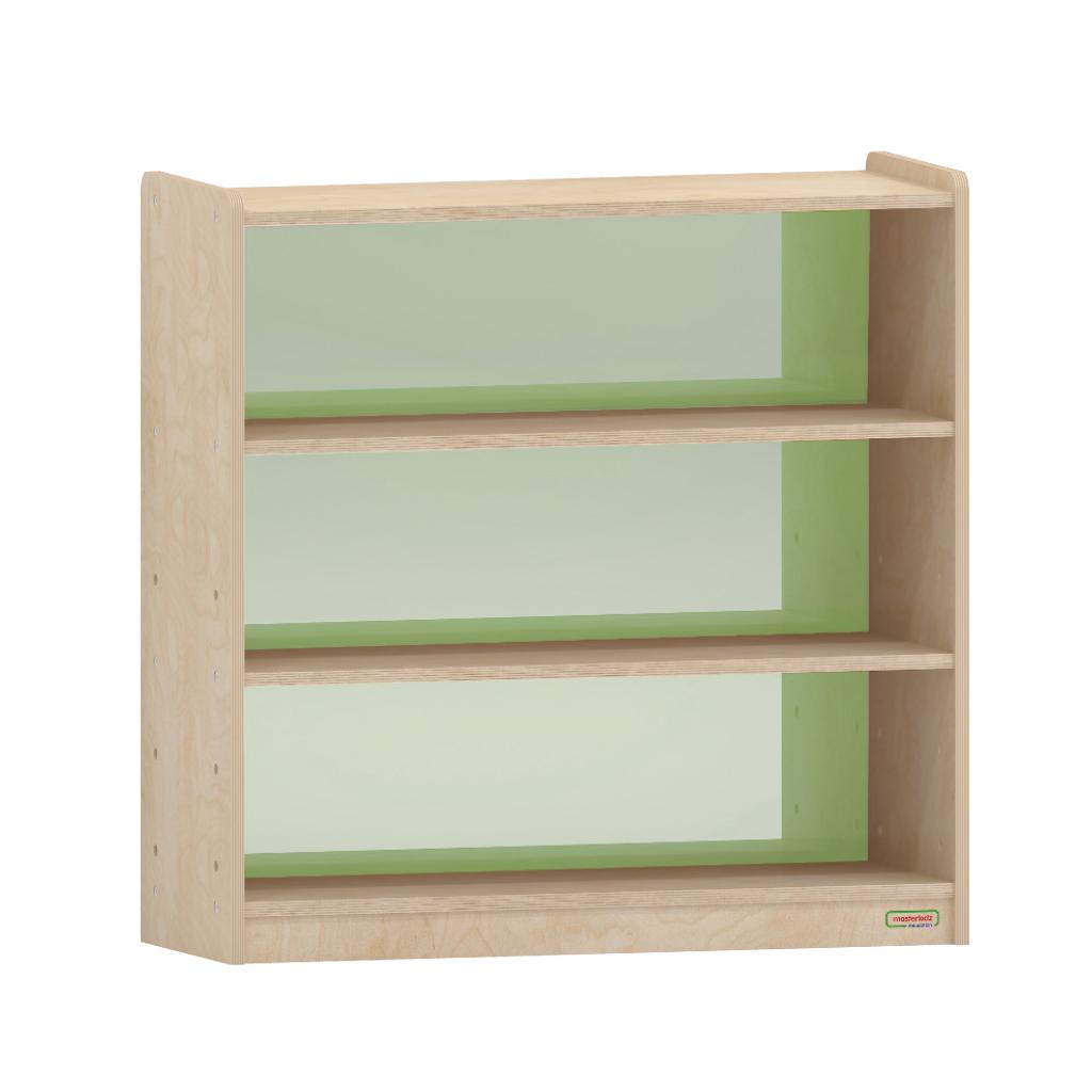 ME09630-800H x 800L 彩色透視耐刮背板三層櫃-綠色