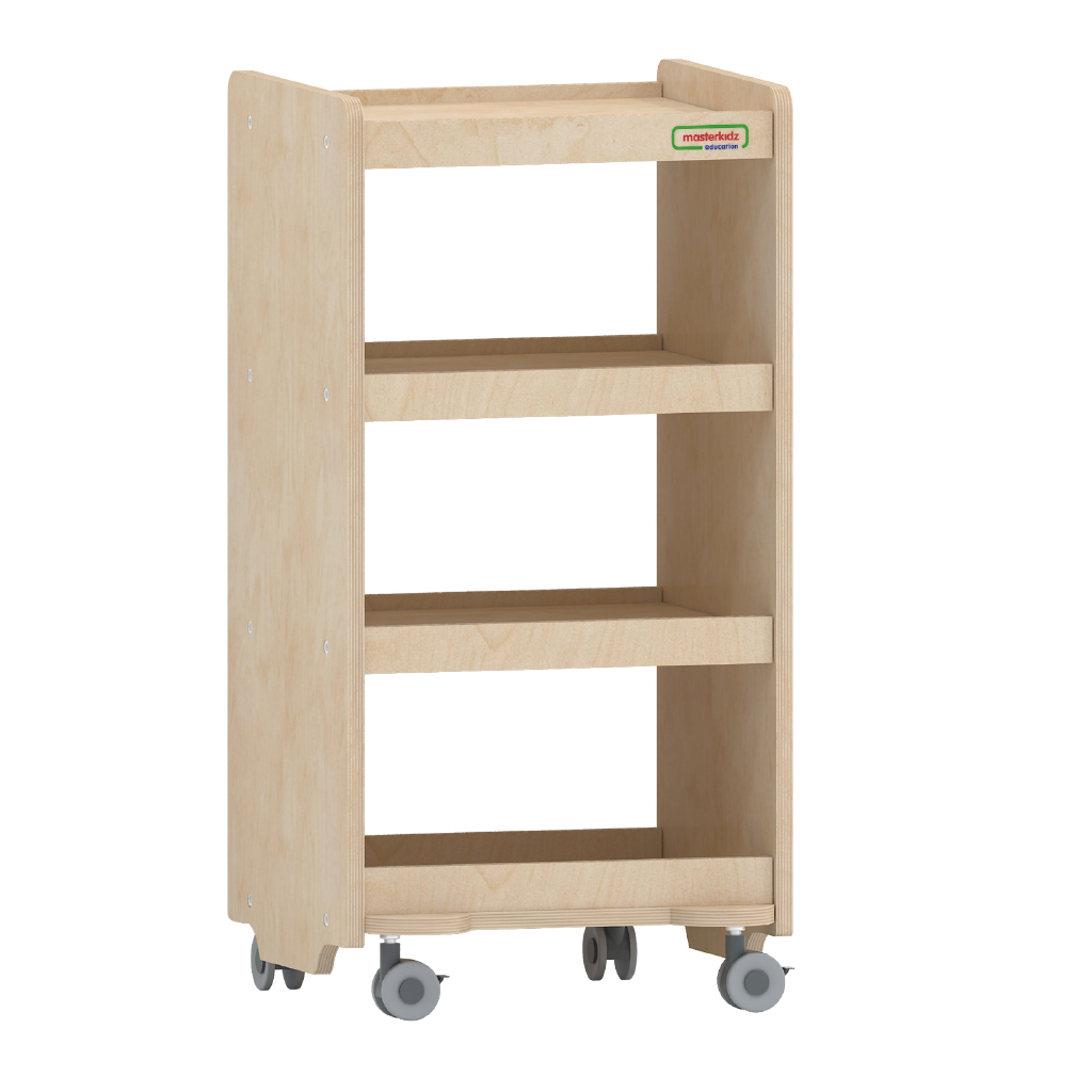 800H x 400L 可移動三層櫃_800H x 400L Open Back Mobile Shelving Unit_ME10483