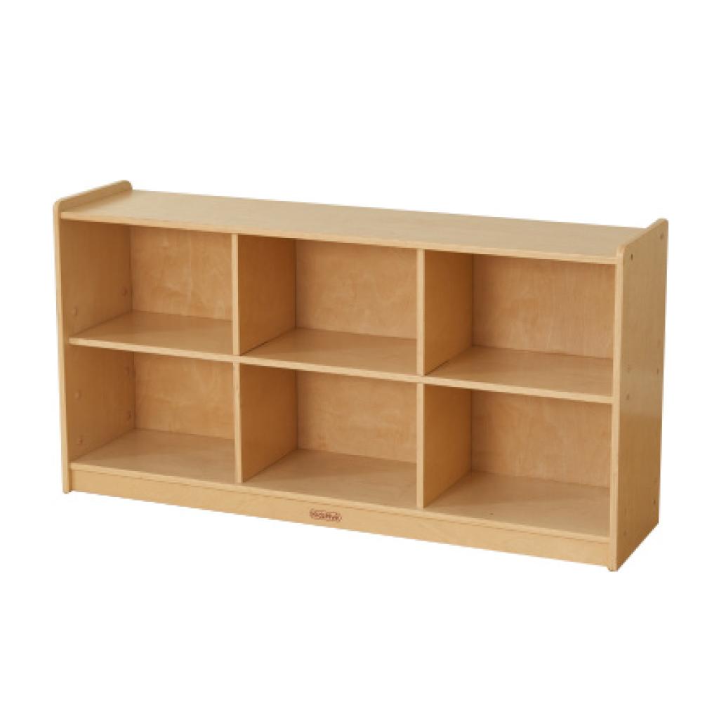 ME10643-620H x 1200L 木背板六格櫃