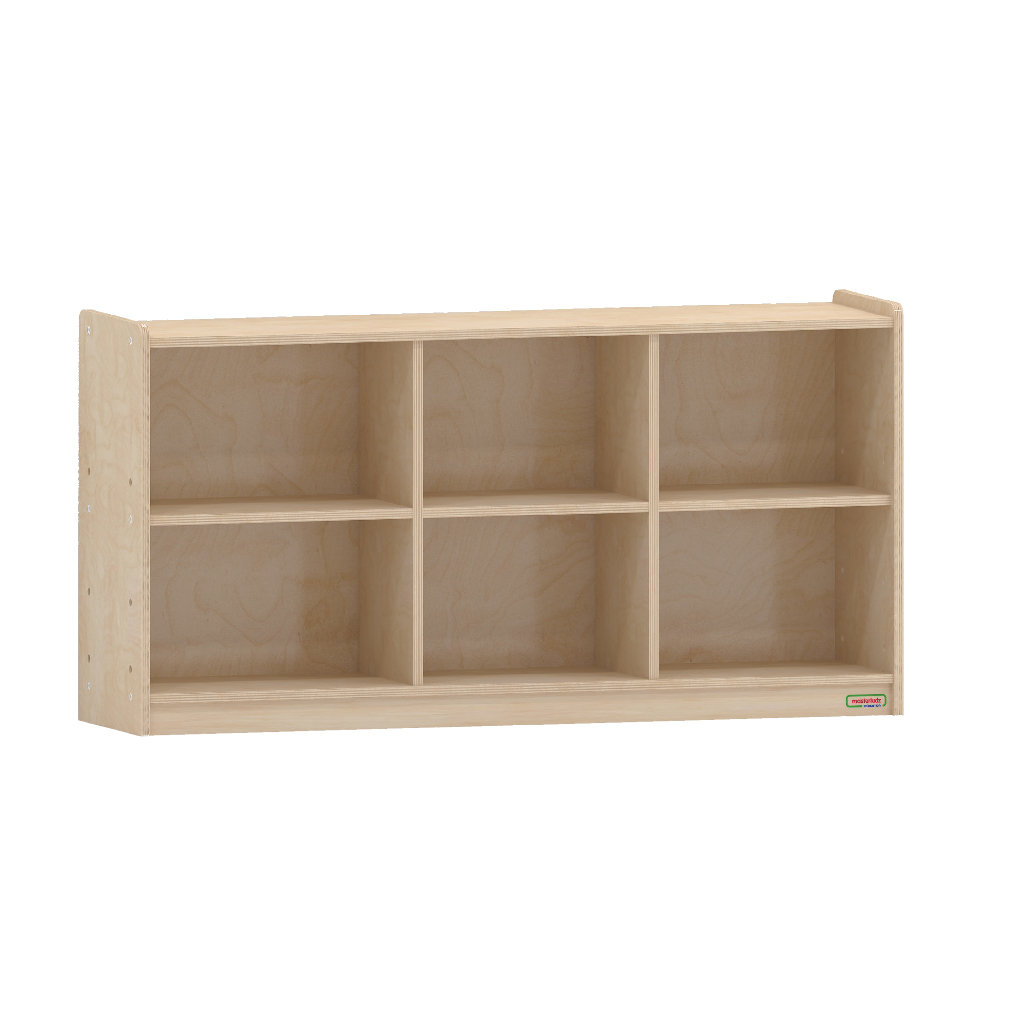 620H x 1200L 木背板六格櫃_620H x 1200L 6-Compartment Shelving Unit - Wooden Back_ME10643