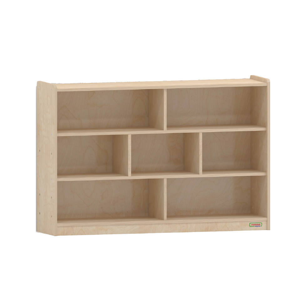 800H x 1200L 木背板七格櫃_800H x 1200L 7 Compartment Shelving Unit - Wooden Back _ME10667
