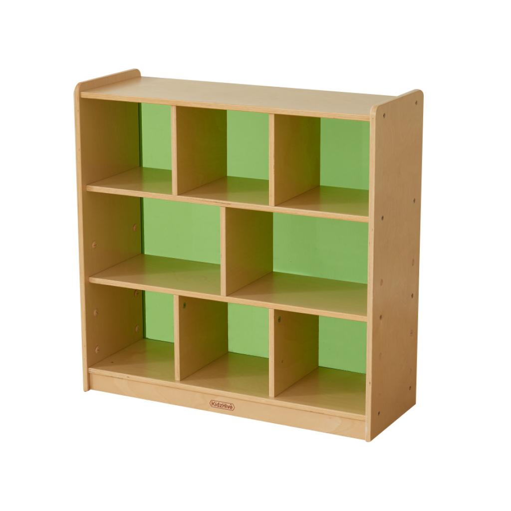 ME10742-800H x 800L 彩色透視耐刮背板八格櫃-綠色