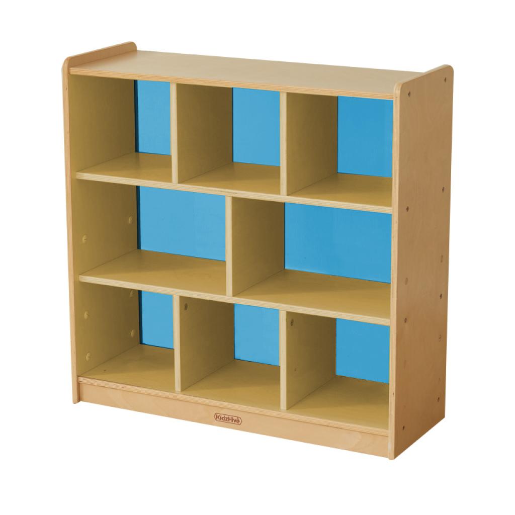 ME10759-800H x 800L 彩色透視耐刮背板八格櫃-藍色
