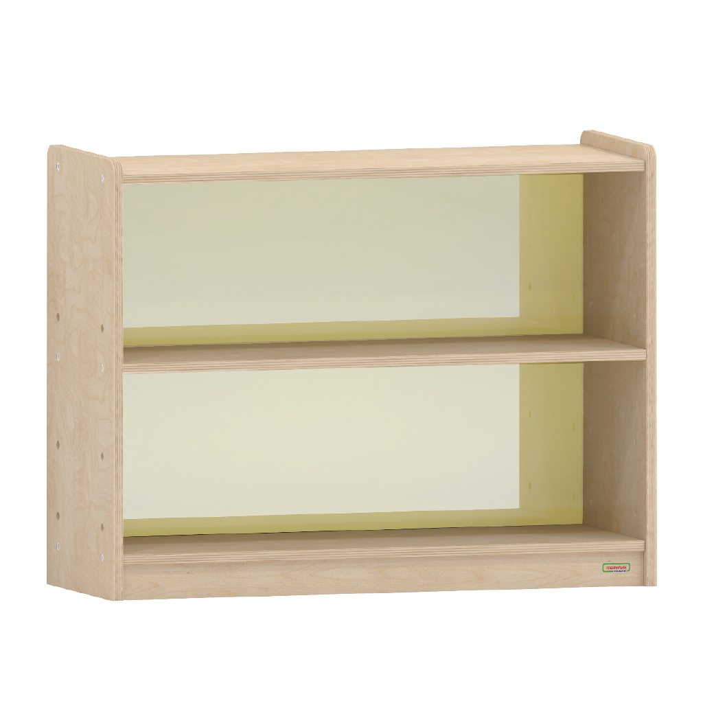 ME10872-620H x 800L 彩色透視耐刮背板雙層櫃-黃色