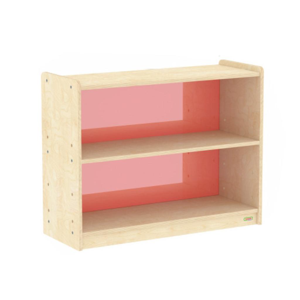 ME10889-620H x 800L 彩色透視耐刮背板雙層櫃-紅色