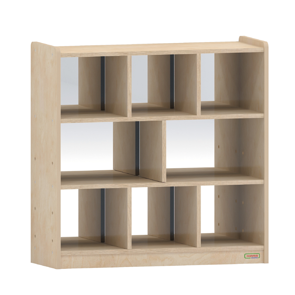800H x 800L 鏡面耐刮背板八格櫃_800H x 800L 8 Compartment Shelving Unit - Anti-Scratch Acrylic Mirror Back_ME10995