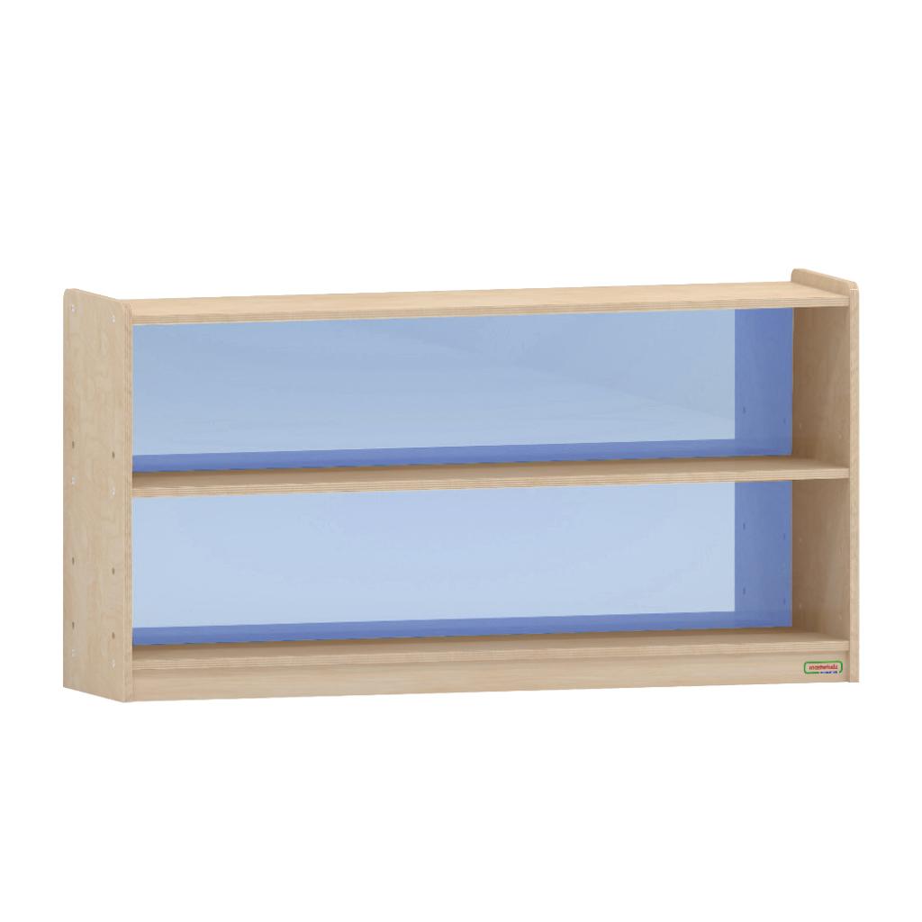 ME12005-620H x 1200L 彩色透視耐刮背板雙層櫃-藍色