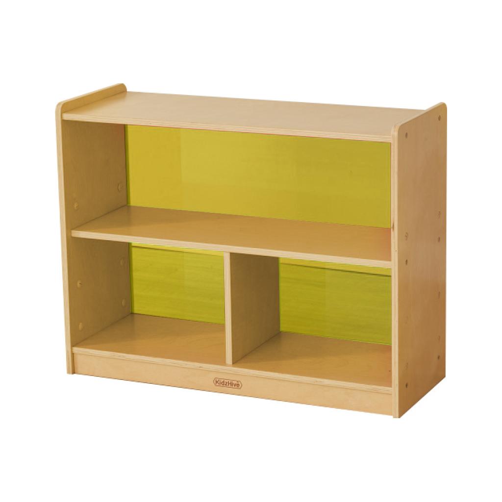 ME12043-620H x 800L 彩色透視耐刮背板三格櫃-黃色