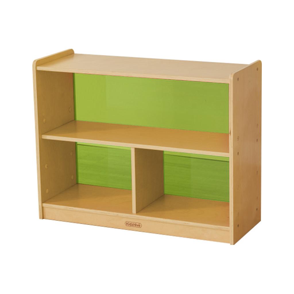 ME12050-620H x 800L 彩色透視耐刮背板三格櫃-綠色