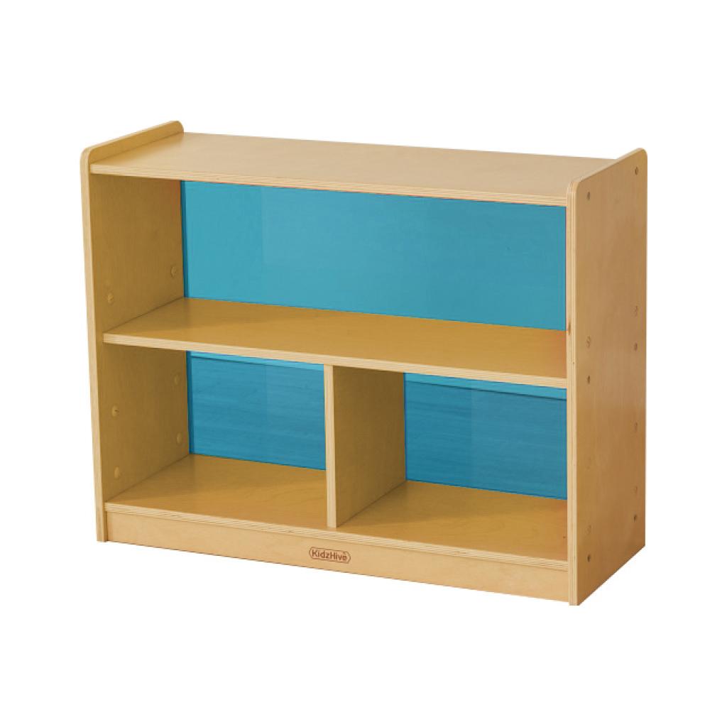 ME12067-620H x 800L 彩色透視耐刮背板三格櫃-藍色