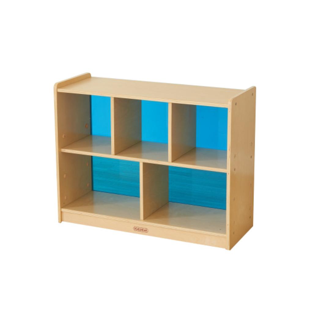 ME12128-620H x 800L 彩色透視耐刮背板五格櫃-藍色