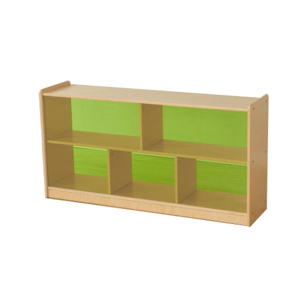 ME12173-620H x 1200L 彩色透視耐刮背板五格櫃-綠色