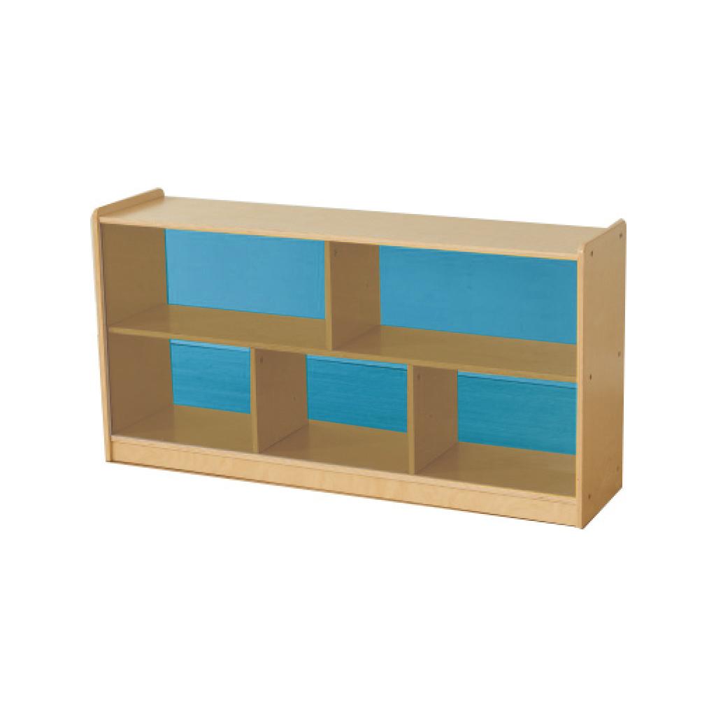 ME12180-620H x 1200L 彩色透視耐刮背板五格櫃-藍色