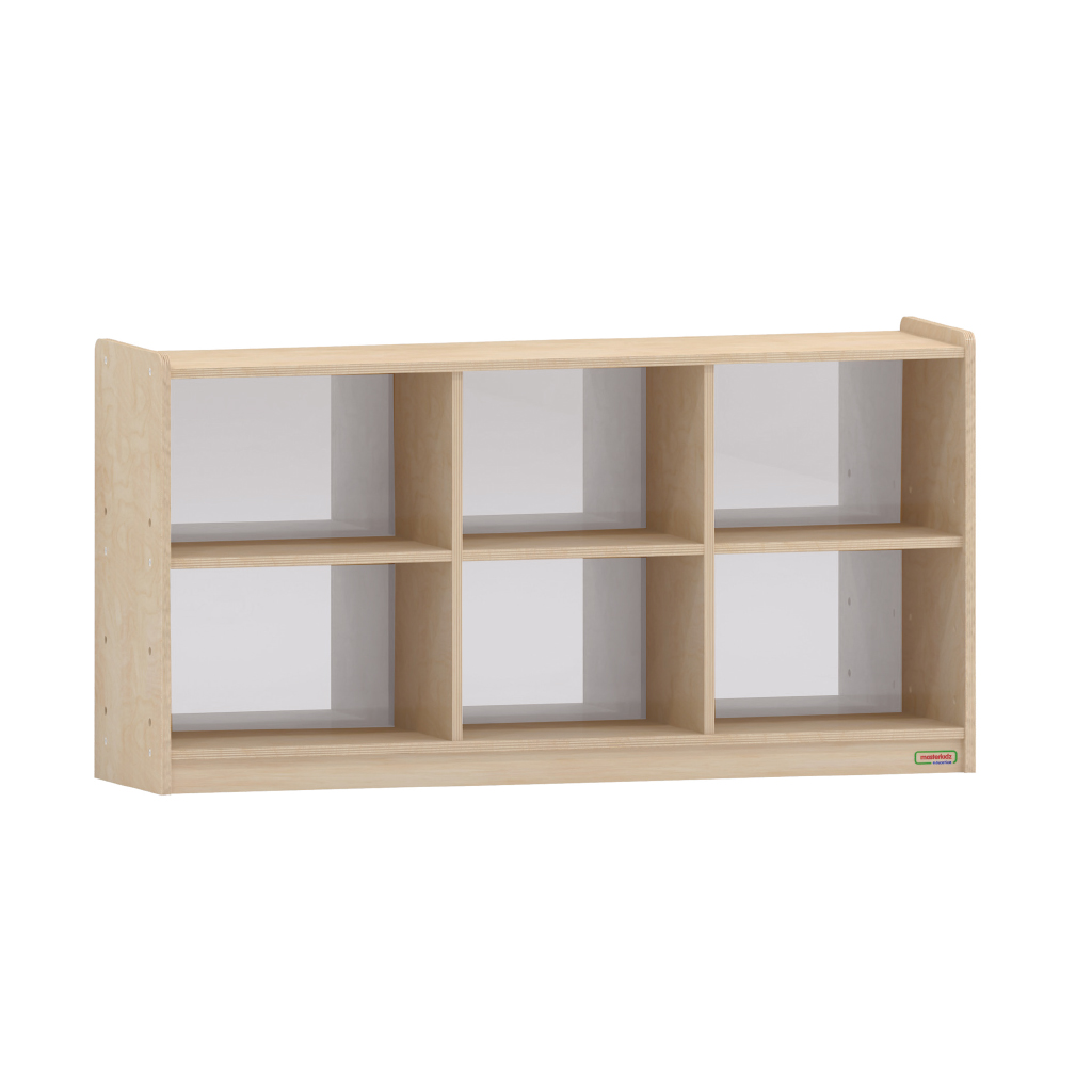 620H x 1200L 鏡面耐刮背板六格櫃_620H x 1200L 6-Compartment Shelving Unit - Anti-Scratch Acrylic Mirror Back_ME12197