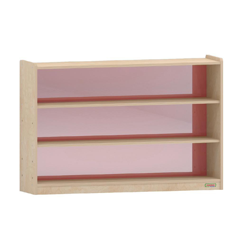 ME12265-800H x 1200L 彩色透視耐刮背板三層櫃-紅色
