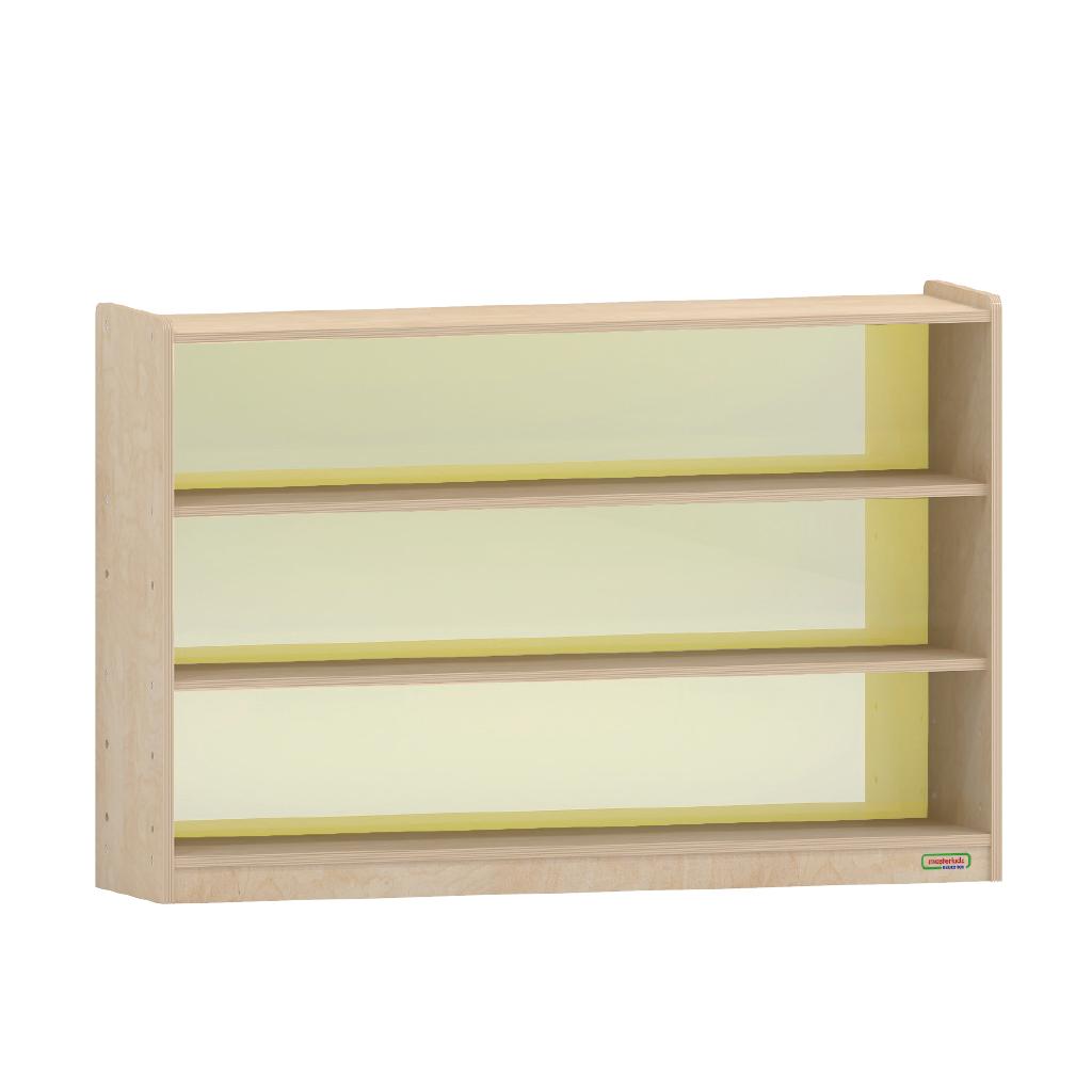 ME12289-800H x 1200L 彩色透視耐刮背板三層櫃-黃色