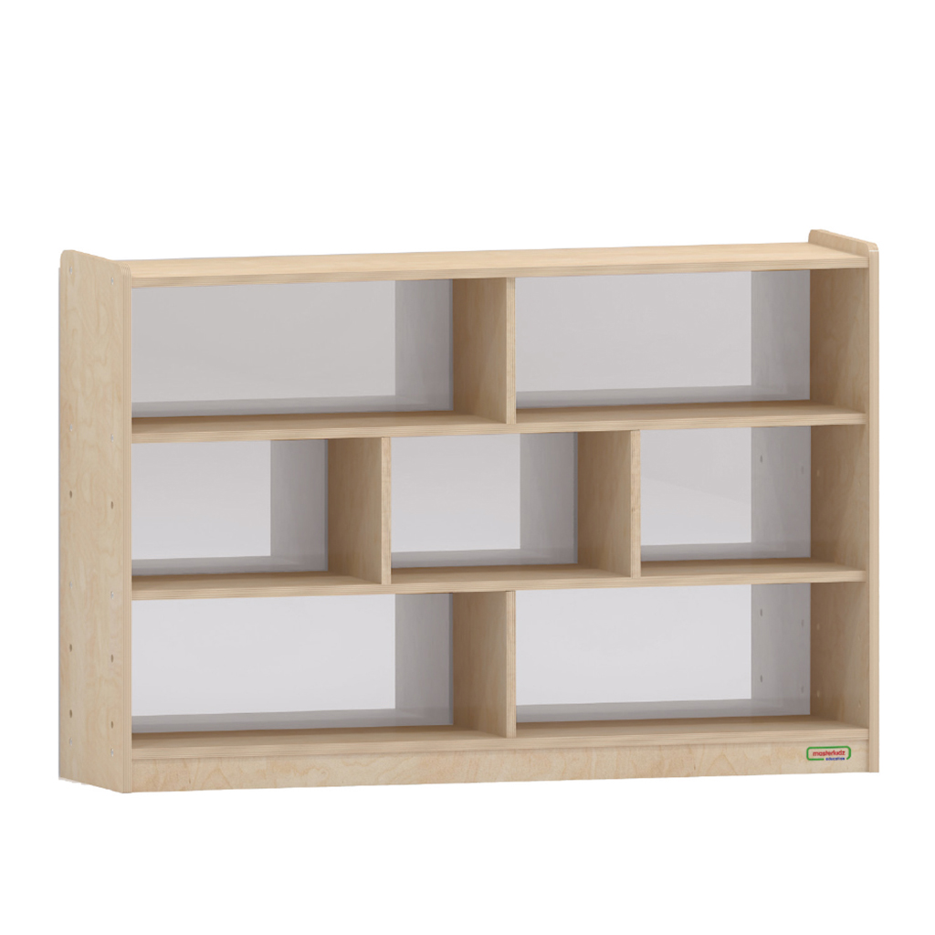 800H x 1200L 鏡面耐刮背板七格櫃_800H x 1200L 7 Compartment Shelving Unit - Anti-Scratch Acrylic Mirror Back_ME12319