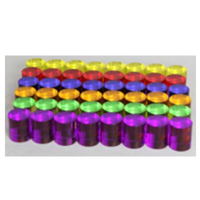 ME13057-六色透明圓柱48件/套
