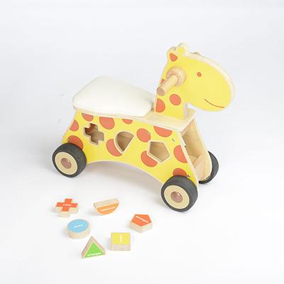 MK01061 - 積木踏步車 - 長頸鹿