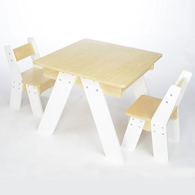MK02419-兒童桌椅套裝 - 白