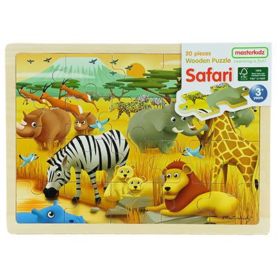 MK05854-木製拼圖 - 森林動物