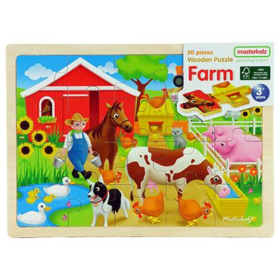 MK05915-木製拼圖 - 農場