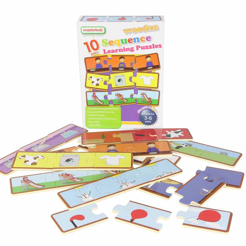 MK06028-邏輯排序木製學習拼圖-盒裝