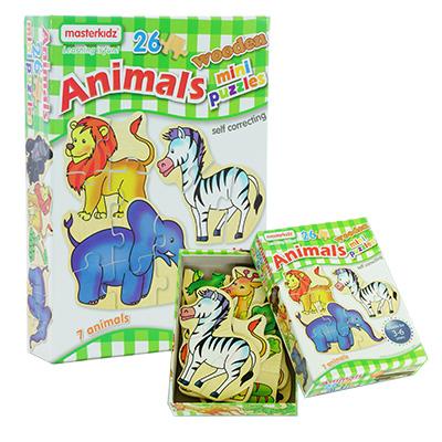 MK06073-木製迷你拼圖盒裝 - 動物