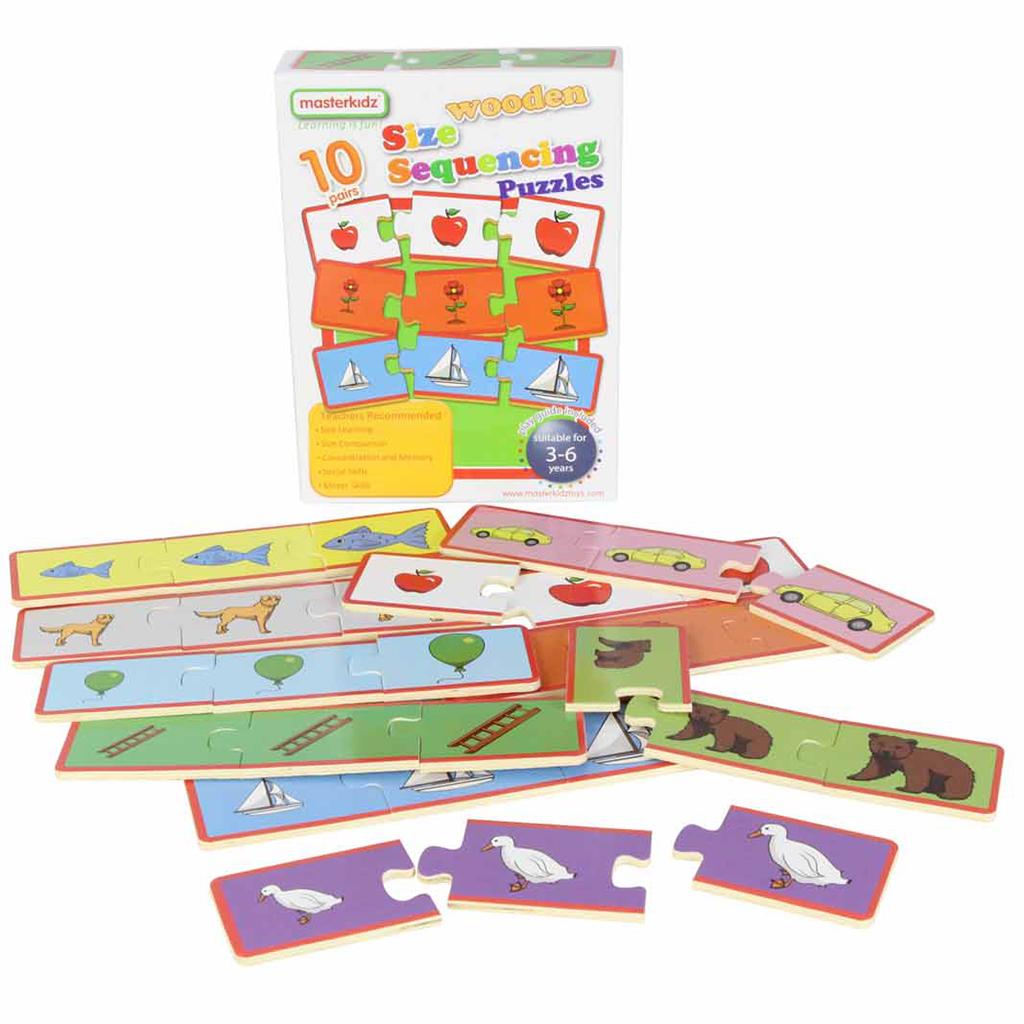 MK06165-大小順序木製學習拼圖-盒裝
