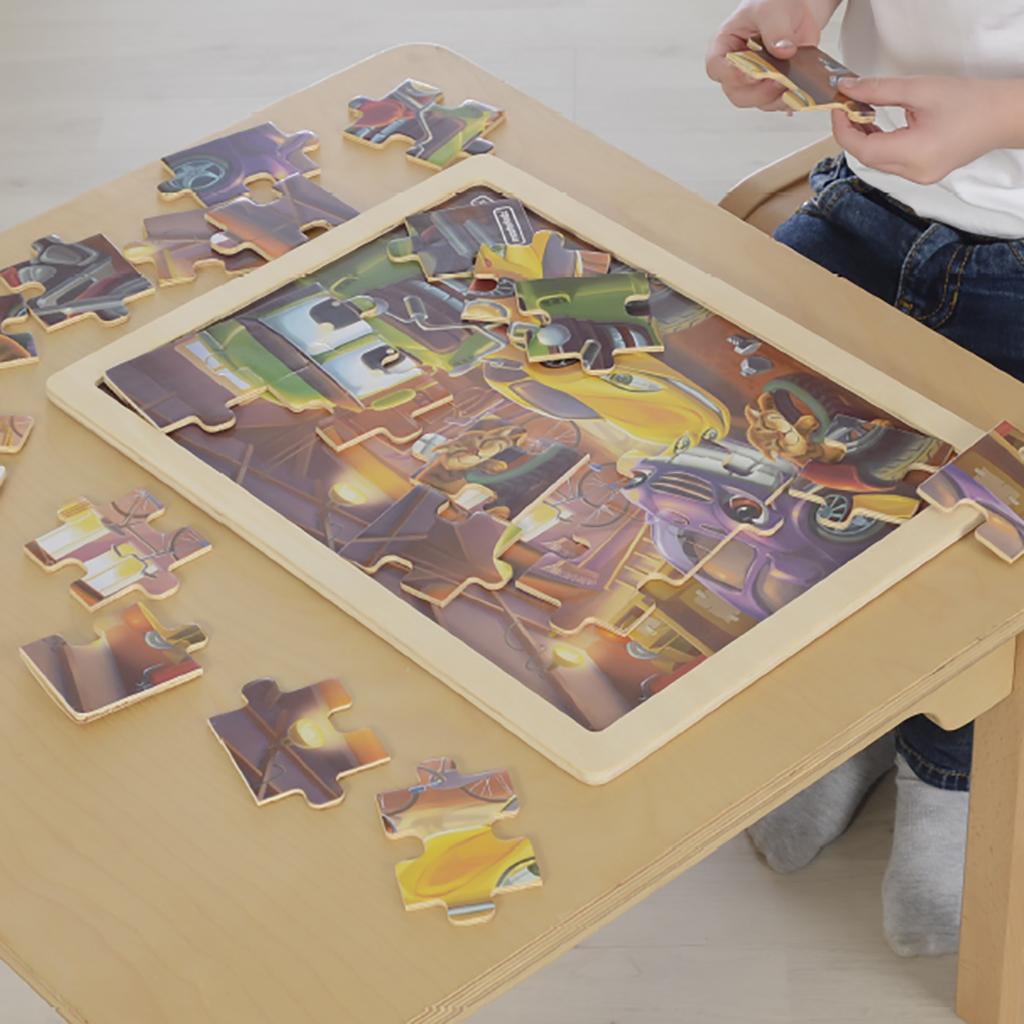 MK07315-24片木製拼圖-快樂小車庫