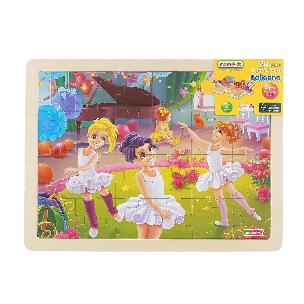 MK07339-24片木製拼圖-快樂芭蕾