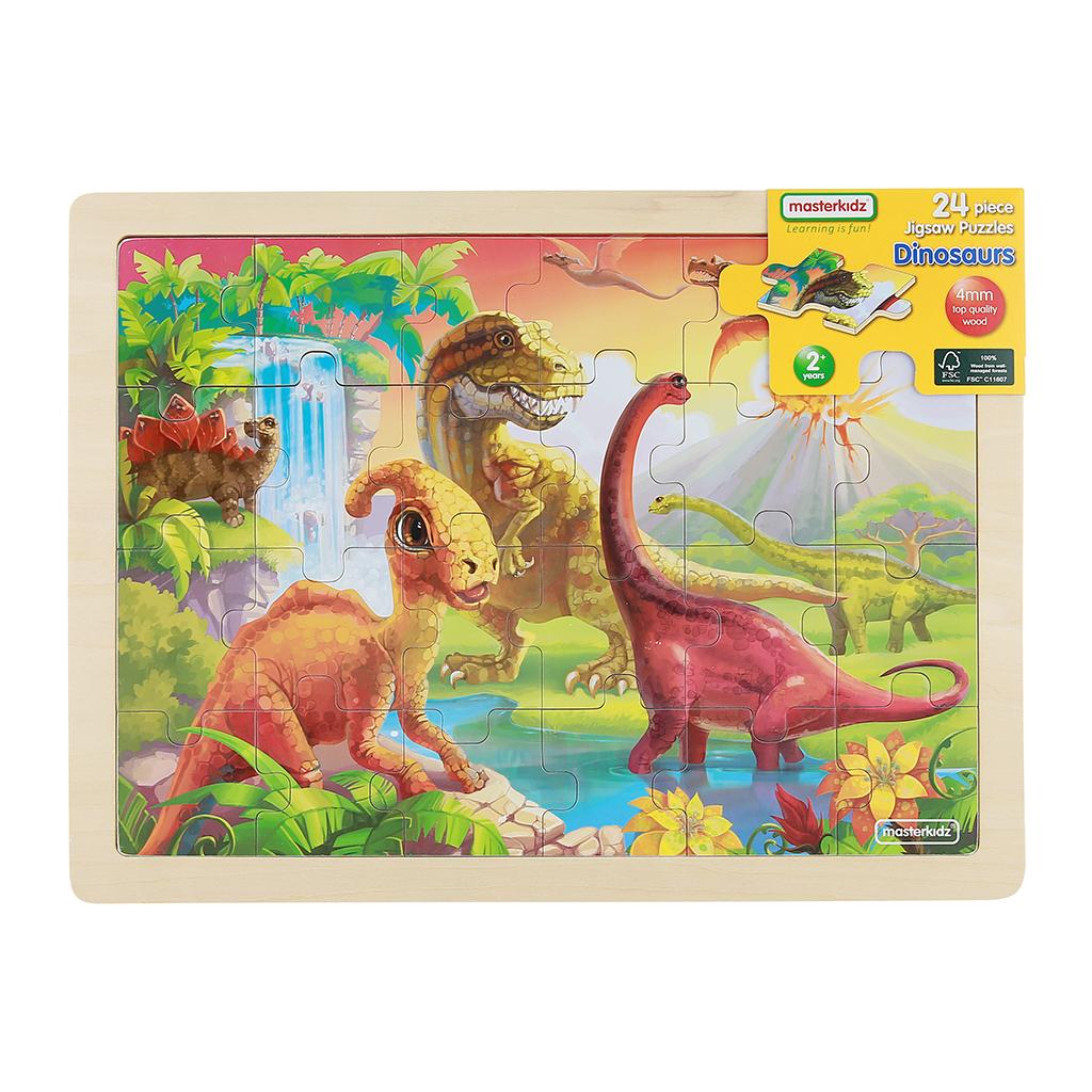 MK07360-24片木製拼圖-恐龍世界