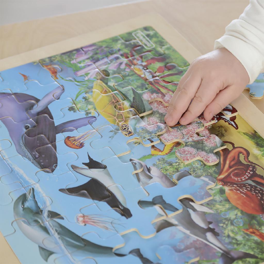 MK07537-48片木製拼圖-海底世界
