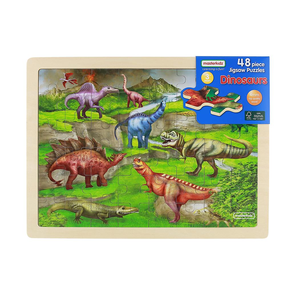 MK07544-48片木製拼圖-恐龍世界