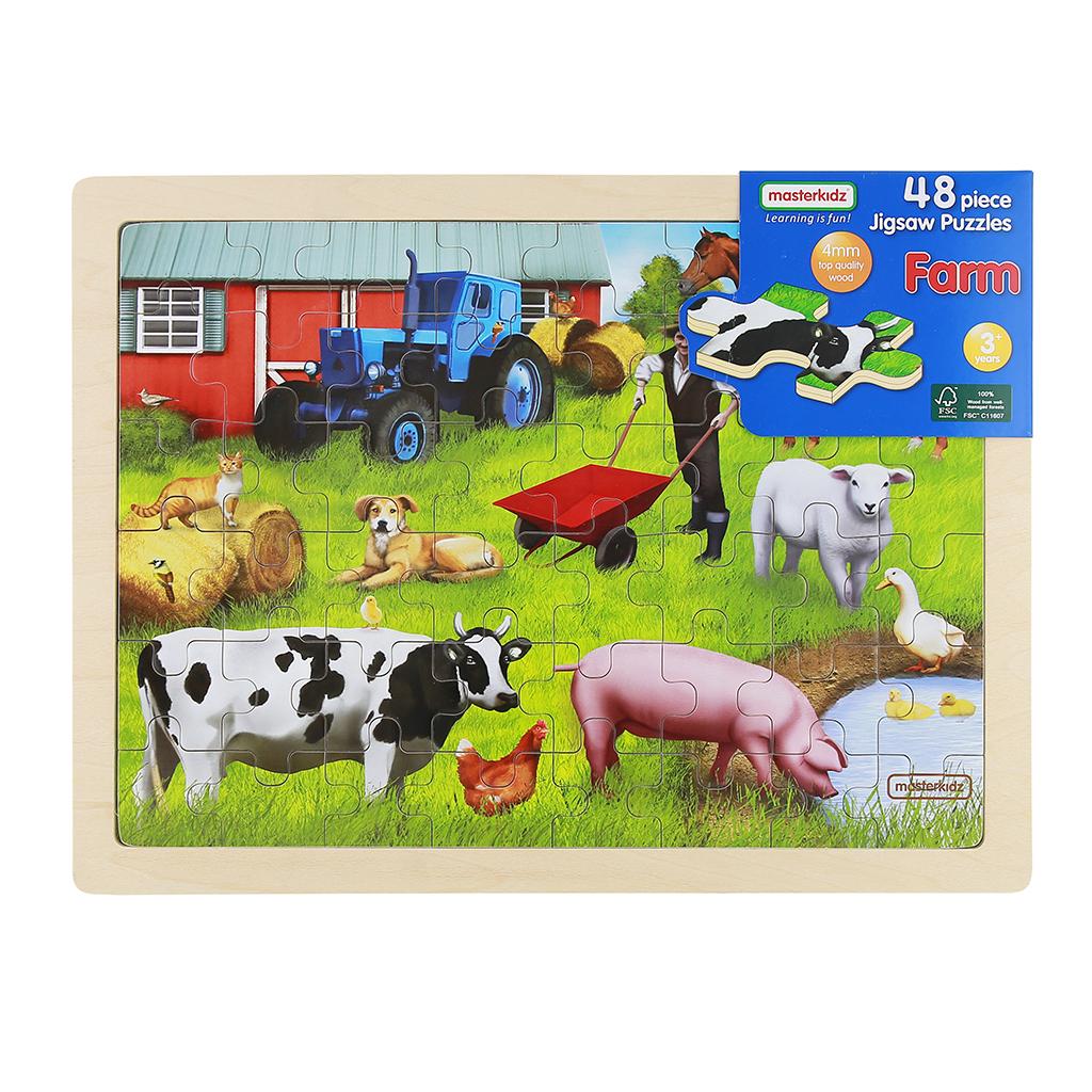 MK07568-48片木製拼圖-農場動物