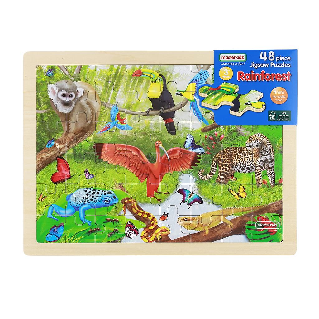 MK07575-48片木製拼圖-熱帶雨林