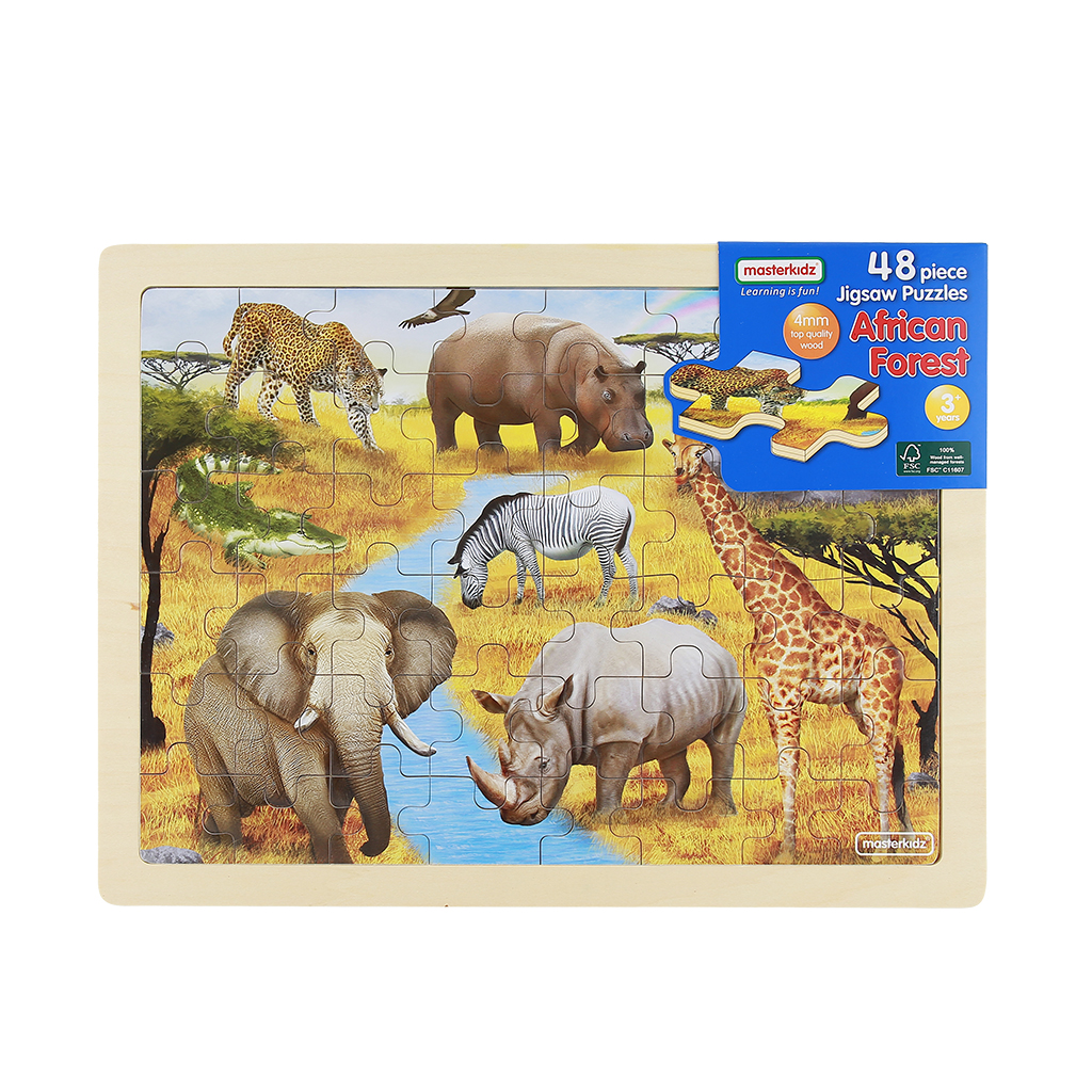 MK07582-48片木製拼圖-非洲原野